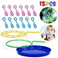 B bangcool Big Bubble Wands Set - Bubbles Wand Funny Bubbles Makers for Outdoor Playtime & Party & Backyard Games for All Age People (15 PCS) by B bangcool
