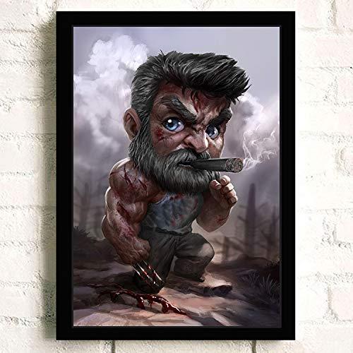 SDFSD Amerikanischer Film Superheld Little Cartoon Bild Nette lustige Figur Poster für Kinderzimmer Wandkunst Bild Leinwand Malerei 30 * 40cm L.