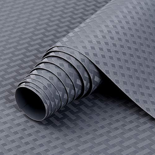 Alfombrilla para cajón de cocina Shelf Liner de material EVA no adhesivo para nevera, revestimiento impermeable y duradero, manteles individuales para armario, forro de cajones (gris, 60 cm x 200 cm)