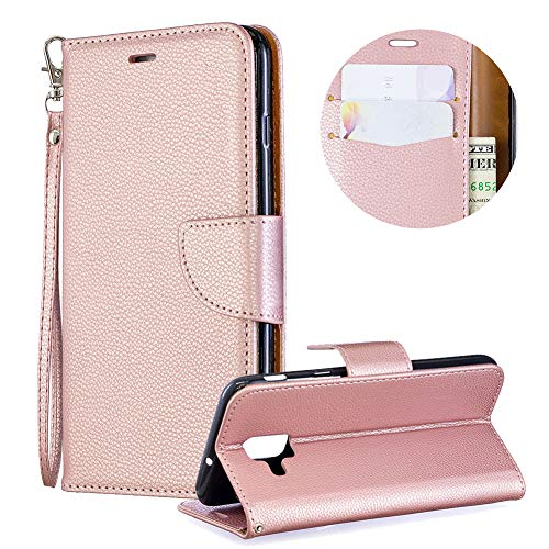 Buy Bargain Luxury PU Leather Wallet Case for Samsung Galaxy A6 2018,Flip Folio Case for Samsung Gal...