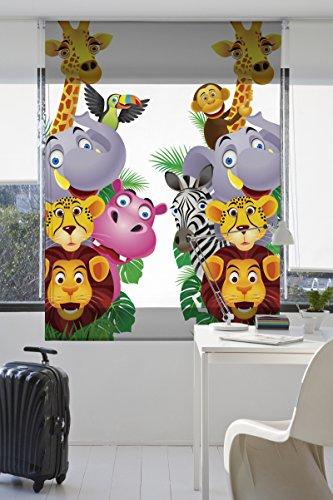 Zebra 44050 - Estor estampado digital de tela, 130 x 175 cm