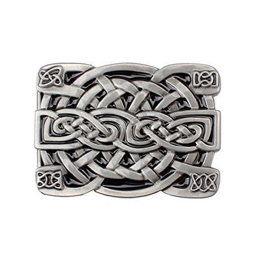 Sharplace Belt Buckle Made of Vintage Metal Western Style - 8x6cm Celtic Knot