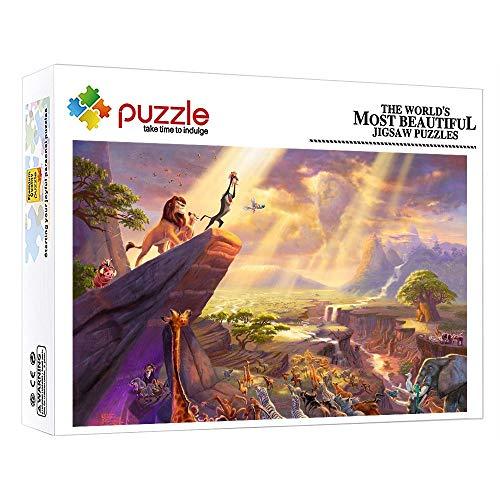 FFGHH Mini Puzzles Il Re Leone Puzzle Adulti 1000 Pezzi Arte Puzzles Puzzle 1000 Pezzi Giocattolo Puzzle Antistress per Bambini E Adulti Amico 38X26Cm
