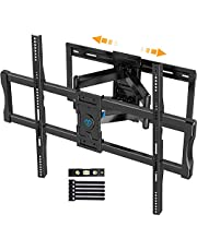 """Full Motion TV Wall Mount for 37-100 Inch Flat/Curved TVs with Max VESA 800x600mm Sliding Articulating TV Mount for TV Centering Swivel Rotate Extend Tilting TV Bracket Fits 16"""" 18"""" 24"""" Studs, PSXF4"""