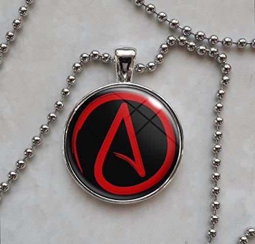Atheist Symbol Choose Color Skeptic Pendant Necklace