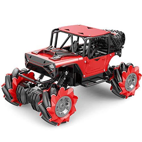 LJKD Coche de Control Remoto, Coche Monstruo de Alta Velocidad para niños, Adecuado para niños, Adolescentes y Adultos,Rojo