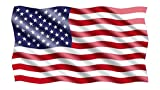 Rogue River Tactical 10x6 Large Waving American USA Flag Car Truck Window Decal Sticker Patriotic Auto Bumper Sticker Vinyl for Car Truck RV SUV Boat Support US Military
