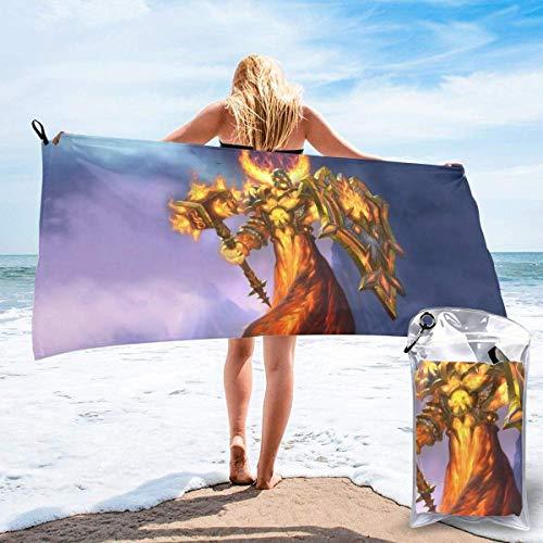DaLaBengBa-shop Hearthstone Schnelltrocknendes Badetuch Mikrofaser Weiche, Flauschige Strandtücher können als Camping Yoga Gym Pool Bad Strandkorb Wandern Badetuch Schnelltrocknen- verwendet Werden