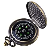 Kakuru Vintage Pocket Compass for Kids Classic Portable Compass Accurate Waterproof for Hiking Outdoor Camping Motoring Boating Backpacking Survival Emergency (Copper)