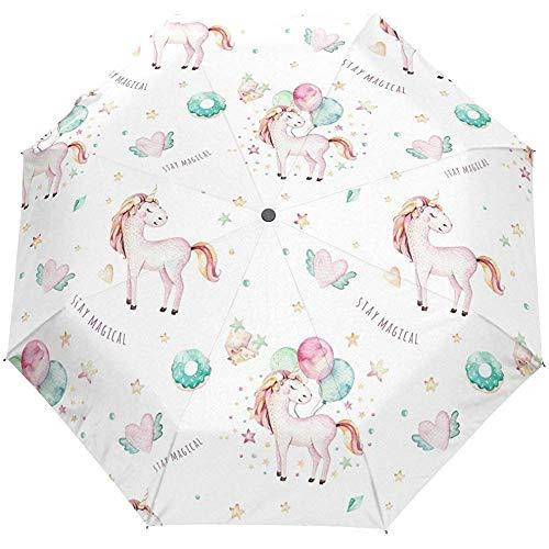 Nettes Tier spielt Herz-Auto-Öffnungs-nahes Sun-Regen-Regenschirm die Hauptrolle