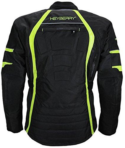 Herren Touren Motorradjacke Textil Heyberry fluorgrün Gr. L - 3