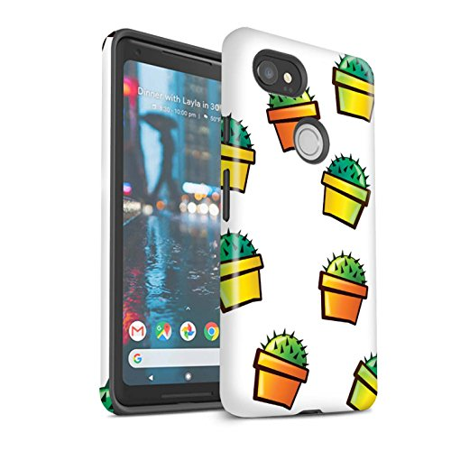 Stuff4®® Telefoonhoes/cover/Skin/GG-3DTBG/Cartoon Cactus Collection Google Pixel 2 XL Bloempot/huis