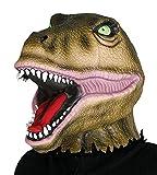 Guirca- Maschera da Dinosauro-T-Rex, Colore Verde, 9252220008286