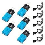 KeeYees 5 Piezas DHT11 Módulo de Sensor de Humedad Temperatura Digital Solo Bus 3.3V-5V con Cables de Puente para Arduino Raspberry Pi