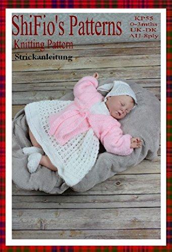 Strickanleitung – KP55 - Babykleid, Bolero, Schal und Schühchen