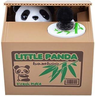 XUANLAN Panda Ladrón Cajas de Dinero Hucha Regalo Caja de Dinero para niños Caja de Ahorro de Dinero del Banco de Monedas robada