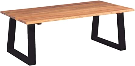 Festnight Coffee Table Dining Table Living Room Furniture Solid Acacia Wood 110x60x40 cm