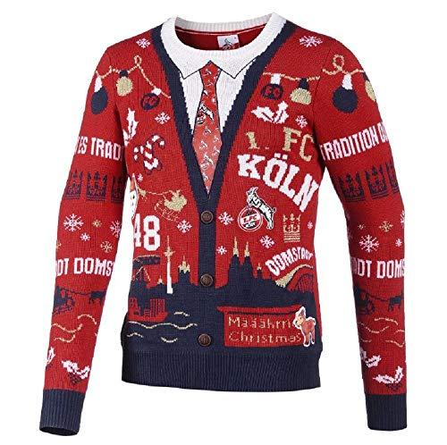 Unbekannt 1. FC Köln Pullover/Weihnachtspullover ** Schäbbisch Pulli Come on FC ** (L)