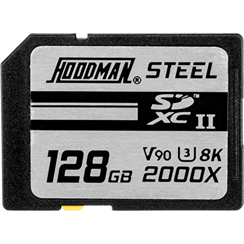 Hoodman 128GB Steel 2000x SDXC UHS-II Class 10 U3 Ruggedized Memory Card