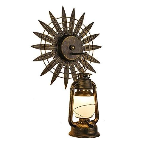 Neilyn Vintage Style Industriel en Fer Forgé Lanterne Applique Rétro Salon Creative Fer Forgé Applique Antique Antique Allée Antique Kérosène Cheval Lanterne Mur Lanterne