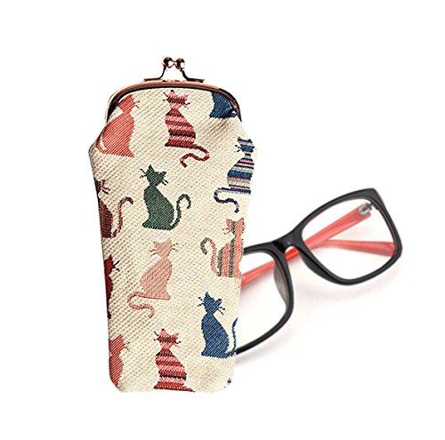 Signare Tapestry Arazzo Porta Occhiali, Custodia Occhiali, Custodia Occhiali da Sole, Portaocchiali per Donna (Gatto sfacciato)