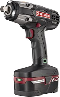"""Craftsman C3 ½"""" Heavy Duty Impact Wrench Kit Powered By 4ah XCP Cordless Tools High Torque"""