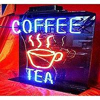 ネオンサイン、『Coffee』NEON SIGN 、ディスプレイ サインボード、ギフト、 省エネ、バー、カフェ、喫茶店、広告用看板、クラブ及び娯楽場所等 インテリア 15*11インチ ME29