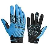 INBIKE Gants VTT Respirant et Extensible Gants Velo à Écran Tactile avec 5mm Paume Cousin pour Moto Randonnée VTT Homme Femme Bleu M(BC005)