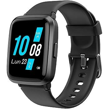 YAMAY Smartwatch con Saturimetro Misuratore Pressione Cardiofrequenzimetro Orologio Fitness Uomo Donna Impermeabile Smart Watch Touch Fitness Tracker Contapassi Cronometro Sveglia per Android iOS