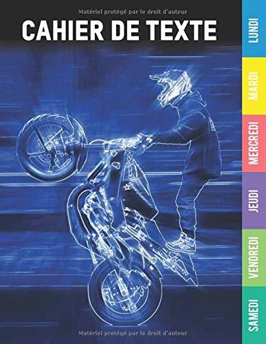 Cahier de texte garcon: Cahier de texte moto moto cross | cahier de texte | 2020 2021 pour le cp - ce1 - c2