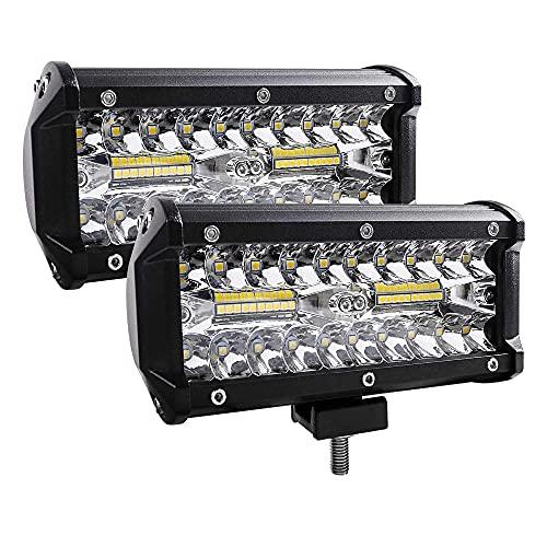 N / B 2 unids LED Off Off LED Light Bar, Luces de Tira de Foco de Trabajo de 400 vatios, Impermeables y Alto Brillo, fácil instalación, Impulsor de la Niebla para Camiones de Trabajo