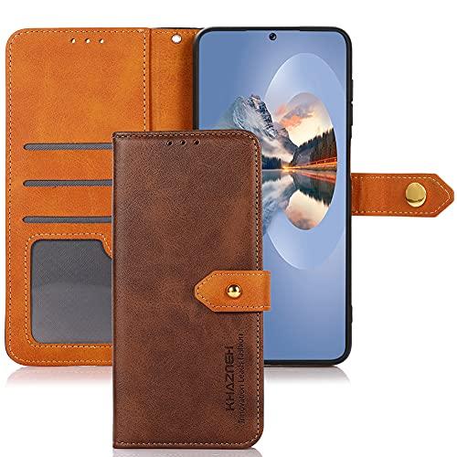 Carcasa para Nokia C01 Core/Nokia C01 Plus, Nokia C01 Core/Nokia C01 Plus Funda Hebilla de oro Carcasa de Cuero PU Billetera [Soporte]+[Tarjetas Ranuras] Compatible para Nokia C01 Core-Marrón