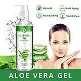 Aloe Vera Gel 100% Pur - für Gesicht, Haare und Körper