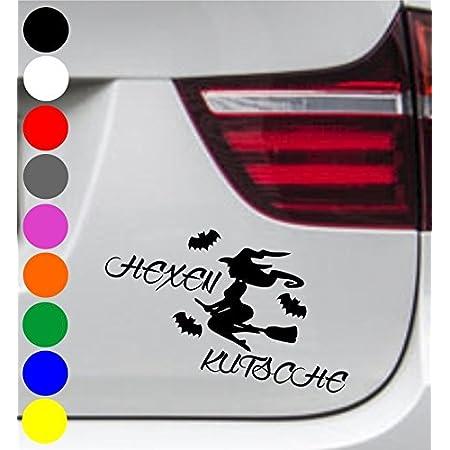 Wdesigns 2er Set Autoaufkleber Hexe Hexenkutsche Fledermaus Tuning Aufkleber Sticker Bmw Auto