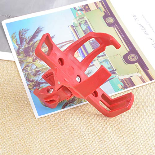 LinXIPU Bicycle drink cup Bicycle Beverage Water Bottle Holder 360 Degree Rack Cage For MTB Bike Bicycle Stroller Motorcycle Cycling Parts Lightweight and easy to install (Color : Red)