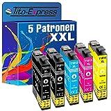 Tito-Express PlatinumSerie 5 Patronen XXL kompatibel mit Epson T1811 - T1814 18XL XP-102 202 205 212 215 225 30 302 305 312 313 315 322 325 33 402 405 412 413 415 420 422 425 | je 18ml Inhalt
