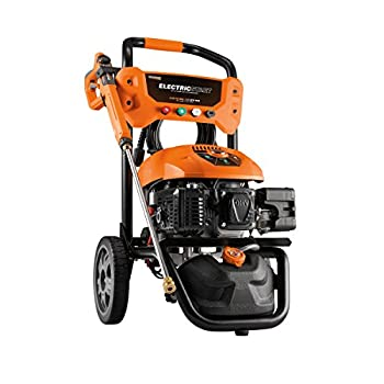 Generac Gas Pressure Washer 3100 PSI 2.5 GPM Lithium-Ion Electric Start with PowerDial Spray Gun 25  Hose and 4 Nozzles