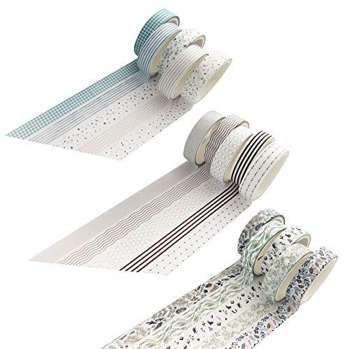 Kitchen-dream Juego de 5 rollos de cinta washi, cinta adhesiva washi, cinta adhesiva decorativa DIY para niños y embalaje de regalos Halloween, Día de Acción de Gracias, Navidad. Pack de 3