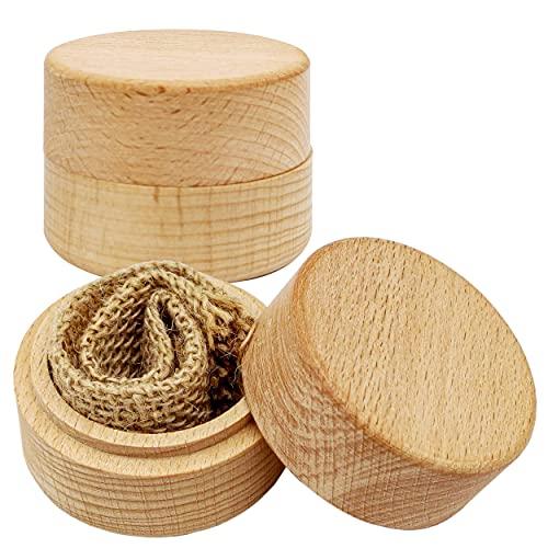 Fahibin Caja de Madera para Anillo, Caja Personalizada De La Boda del Anillo De Madera cajas de joyería para Anillos de boda Caja de Almacenamiento de Baratija Portátil