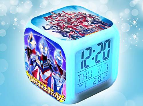 Rob Sello Ultraman Galaxy Dynamo Diga leuchtende Uhr bunte Lichter Cartoon Kinder Student Wecker Geburtstagsgeschenk