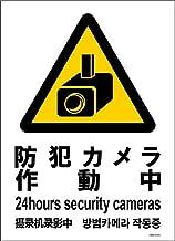 標識スクエア 「 防犯カメラ作動中 」 タテ・大【 プレート 看板 】 200x276㎜ CTK1074 2枚組