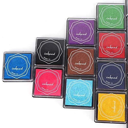 Rehomy 20 colores DIY lindo colorido almohadilla de tinta sello almohadilla de tinta para sello de goma scrapbook decoración