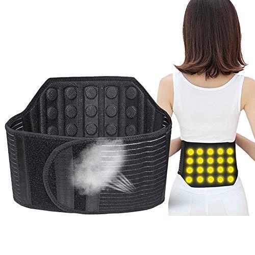 RENTOOR Soporte Lumbar Cinturón Dolor Alivio con 21 Imanes Y Turmalina, Atrás Apoyo para Mujer Hombres Ajustable Cintura Correas Ciática Estenosis Espinal (Size : M)