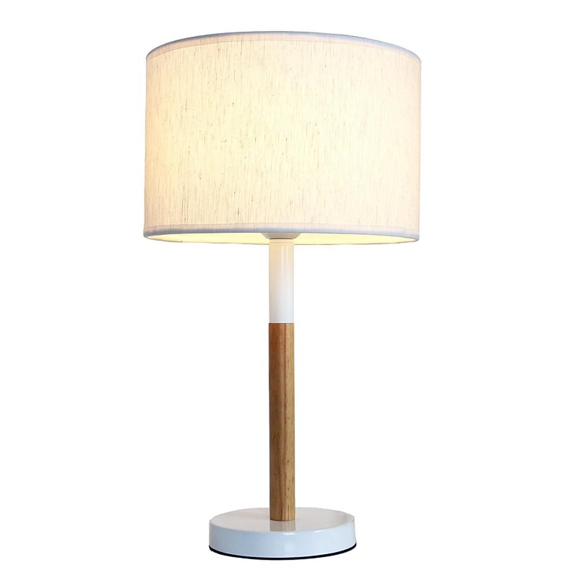 家事をするパーティー宗教的な寝室の夜の光 ベッドルームのためのシンプルな木製テーブルランプベッドサイドランプモダンな暖かくクリエイティブなアートテーブルランプE27 (色 : Button switch)
