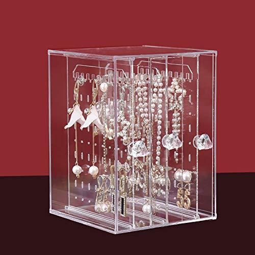 Lili Soporte De Exhibición De Estante para Pendientes Almacenamiento para El Hogar Collar Colgante Pendientes Caja De Almacenamiento para Pendientes Caja Gran Capacidad