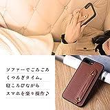 [HANATORA] iPhoneXR ケース サフィアーノ・レザー スマホケース 落下防止 耐衝撃 スタンド機能 本革 ハンディベルト ハンドメイド ストラップホール ストラップリング ギフトにも最適品 Handy 茶色 チョコ ブラウン XGH-XR-Brown_02