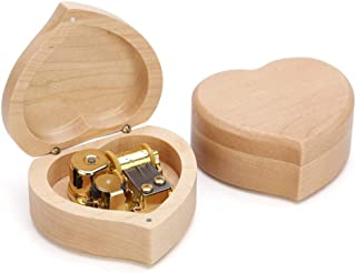 Music Box Music Box Sports & Copper Gear DIY Making Your Music Tool Kit Maple Square Music Box Girl Birthday Gift Christmas (Color : C, Song : Kanon)