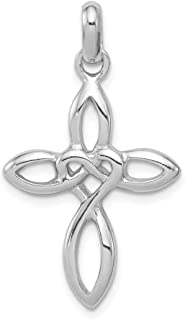 925 Sterling Silver Cross Religious Pendant Charm Necklace Fine Jewelry Gifts For Women For Her