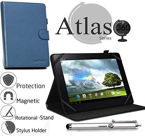 Navitech stilvolles rotierbares 10 Zoll Stand Case Cover Hülle in Blau mit Stylus Pen für das Odys IEOS Quad 10.1 Zoll Tablet-PC