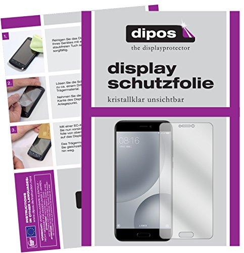 dipos I 2X Schutzfolie klar kompatibel mit Xiaomi Mi 5c Folie Bildschirmschutzfolie